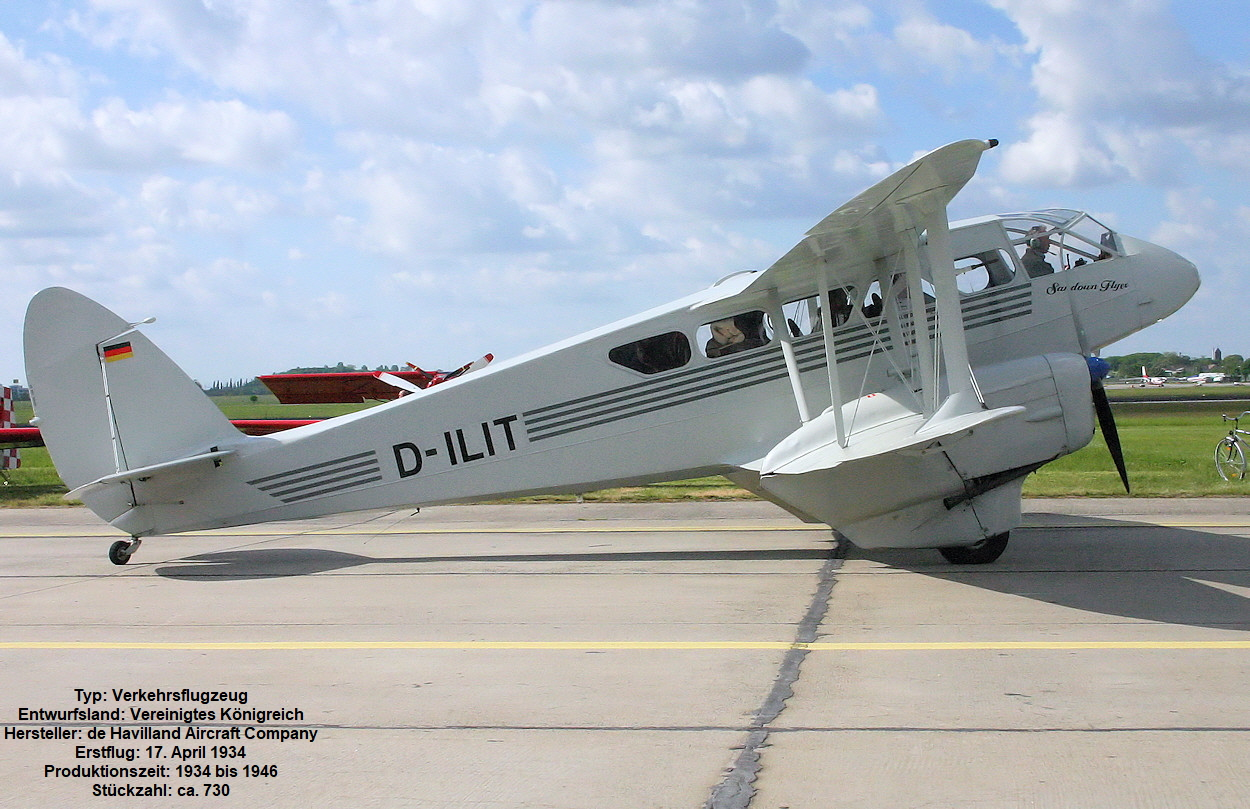 De Havilland DH 89 - Rollbahn