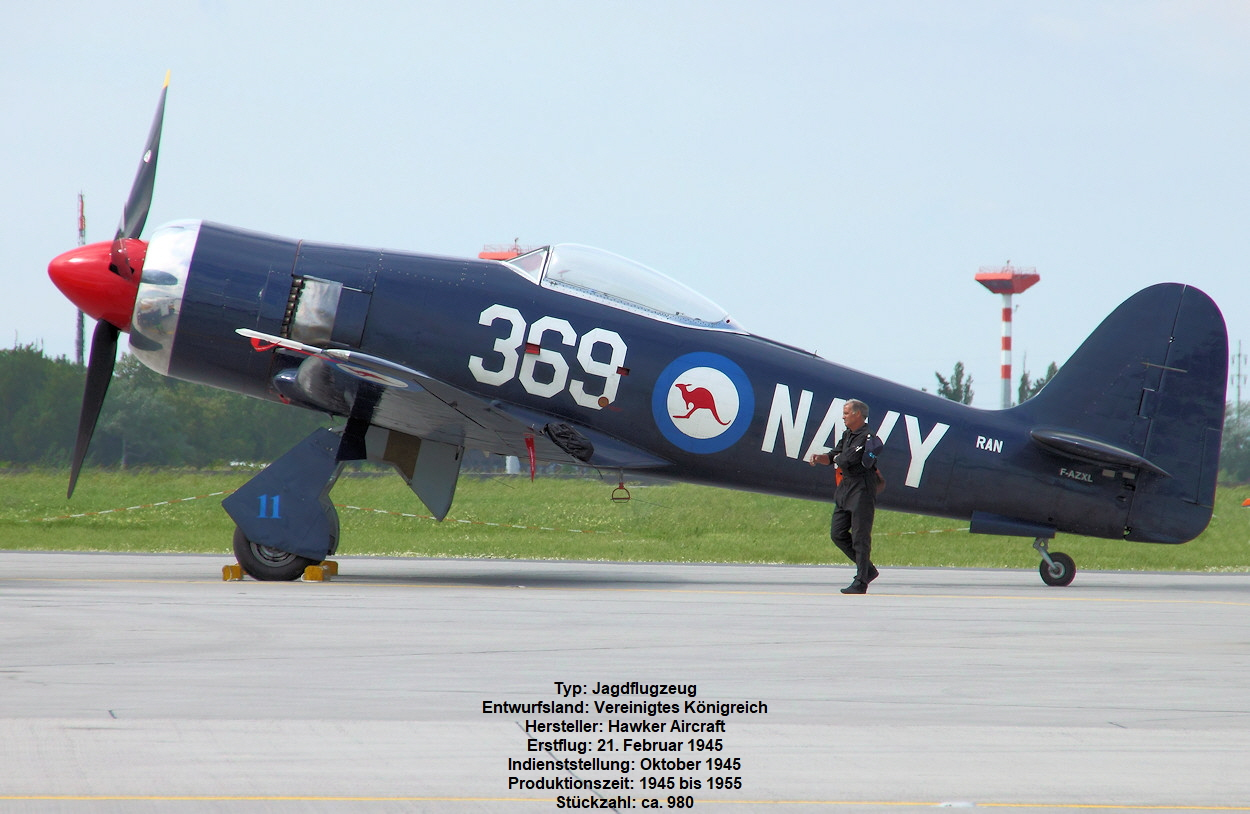 Hawker Sea Fury - Jagdflugzeug