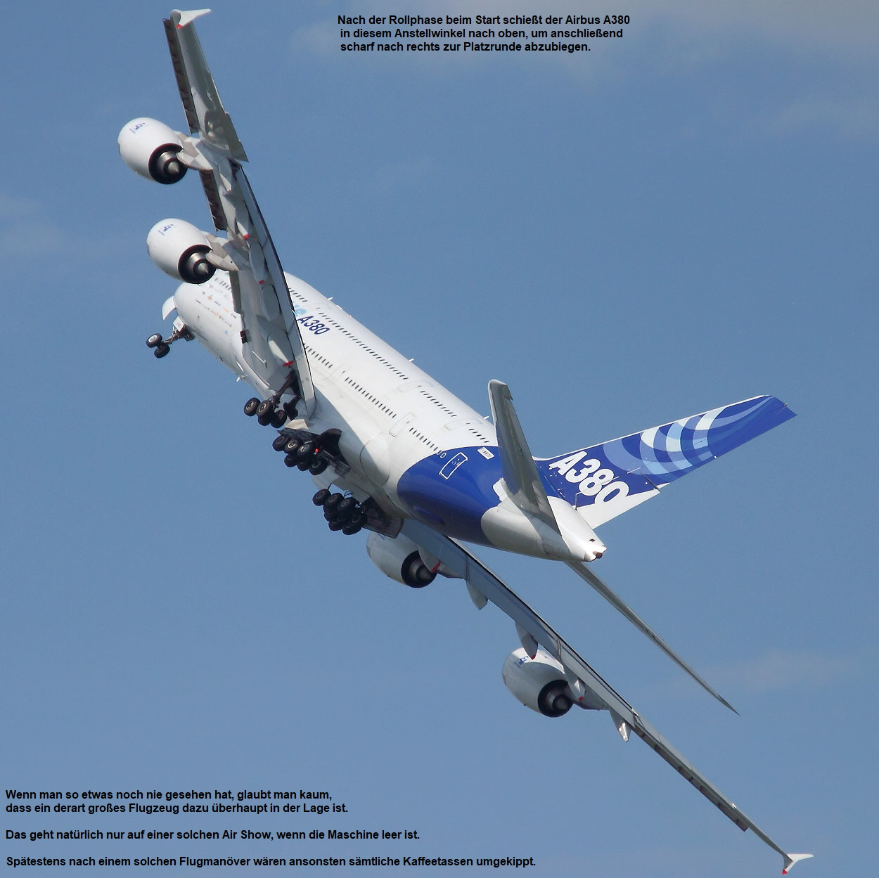 Airbus A380-800 - Startphase