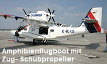 Dornier Seastar CD2: 2-motoriges Amphibienflugboot mit Zug- Schubpropeller der Dornier Seawings AG